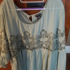 Torrid 5 babydoll blouse